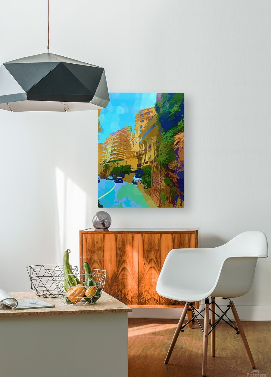 Monte Carlo Monaco Casino   HD Metal print with Floating Frame on Back