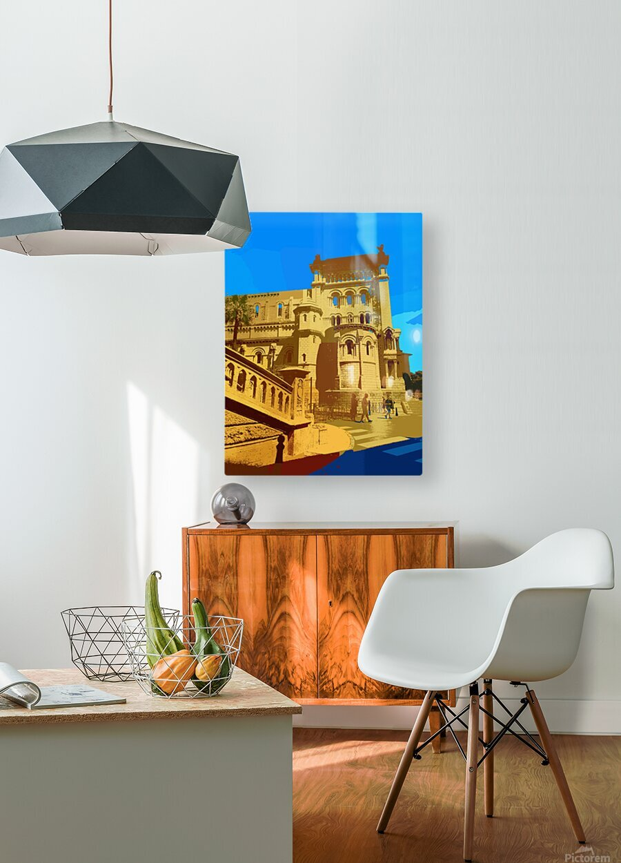 Dreams of Cannes France in Retro Behemian Style  HD Metal print with Floating Frame on Back