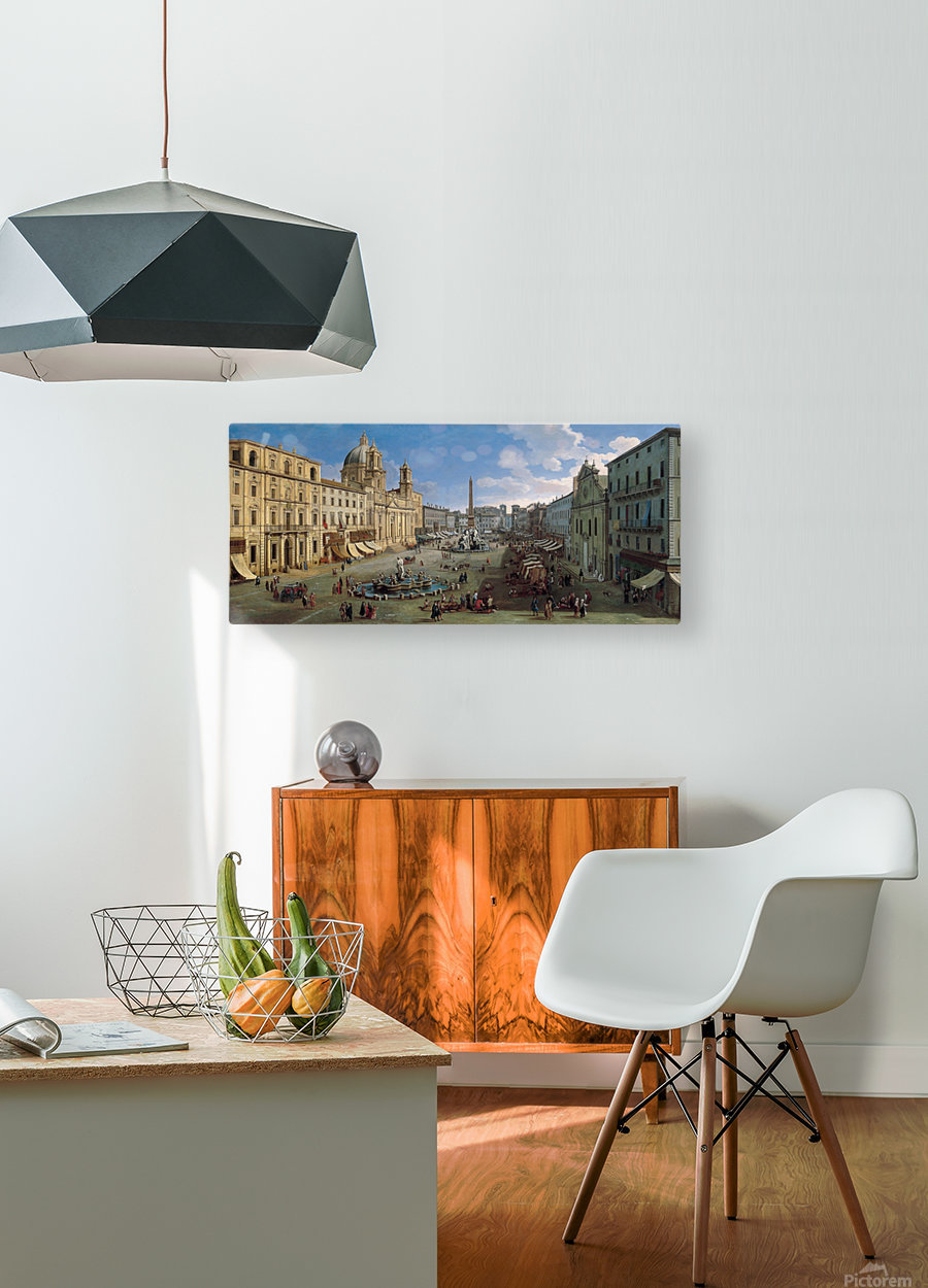 Piazza Navona  HD Metal print with Floating Frame on Back