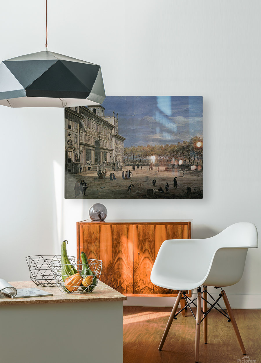 Villa Medici and garden in Rome  HD Metal print with Floating Frame on Back