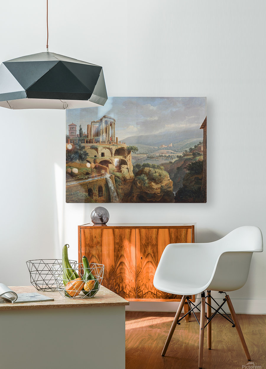 Citadel on the hill  HD Metal print with Floating Frame on Back