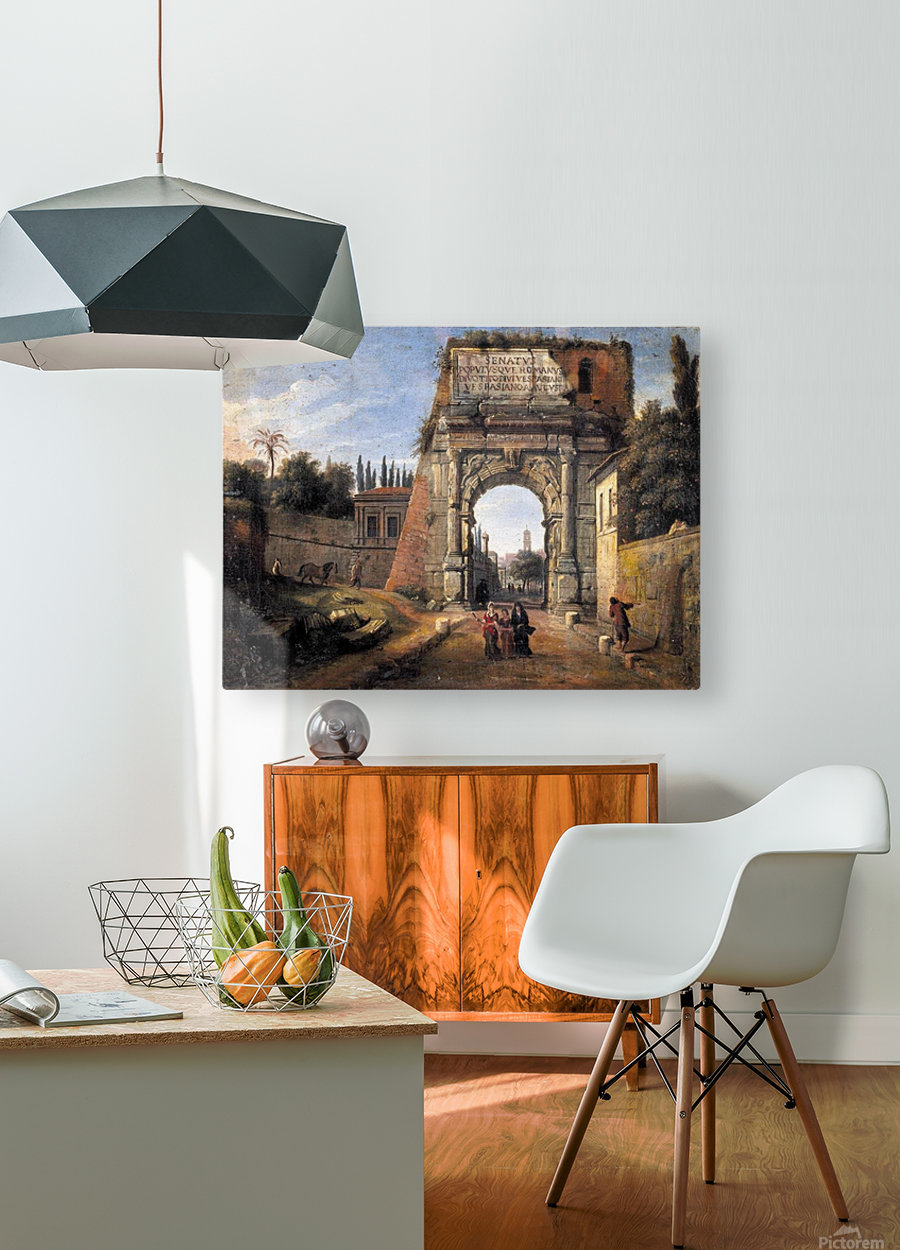 View of the Arch of Titus  HD Metal print with Floating Frame on Back