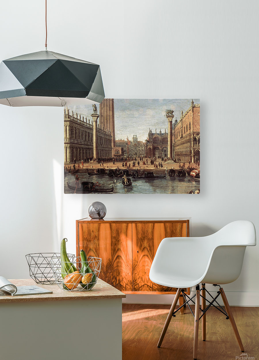 The Piazzetta from the Bacino di San Marco  HD Metal print with Floating Frame on Back
