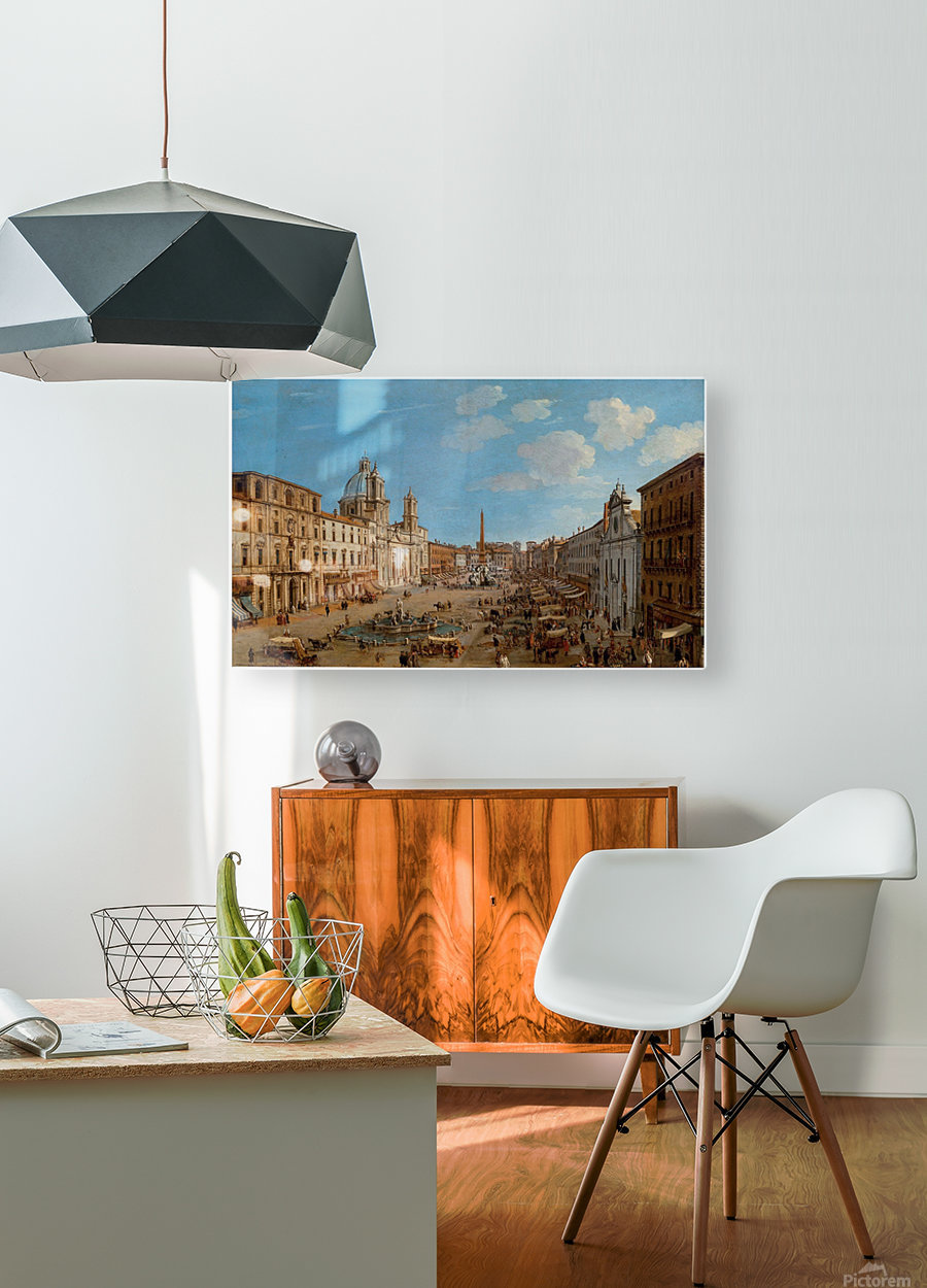 The Piazza Navona  HD Metal print with Floating Frame on Back