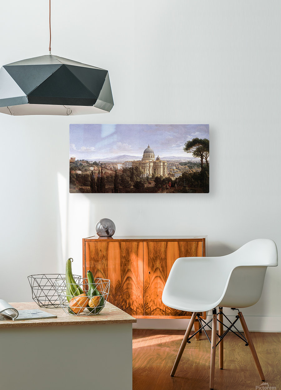 The St Peter's in Rome  HD Metal print with Floating Frame on Back