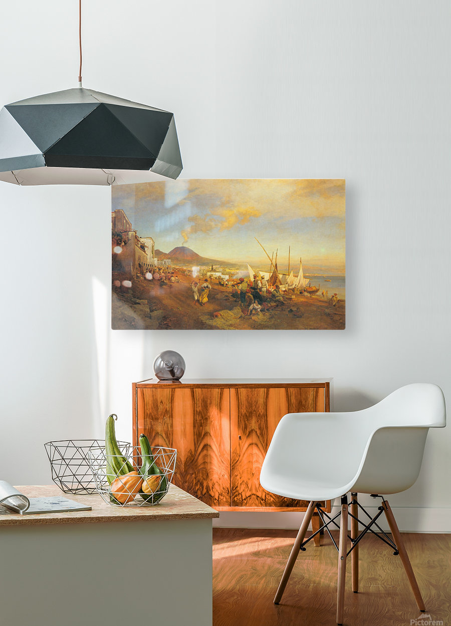 View of Naples  HD Metal print with Floating Frame on Back