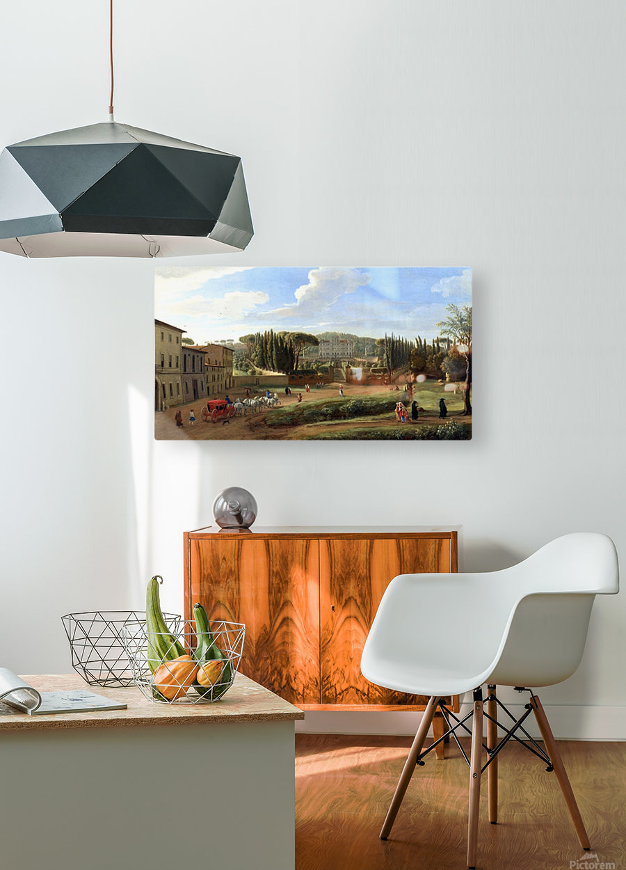 A view of the Villa Aldobrandini  HD Metal print with Floating Frame on Back