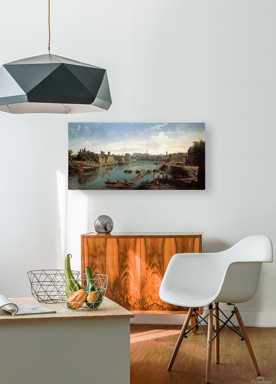 Tiber near the Porto di Ripa Grande  HD Metal print with Floating Frame on Back