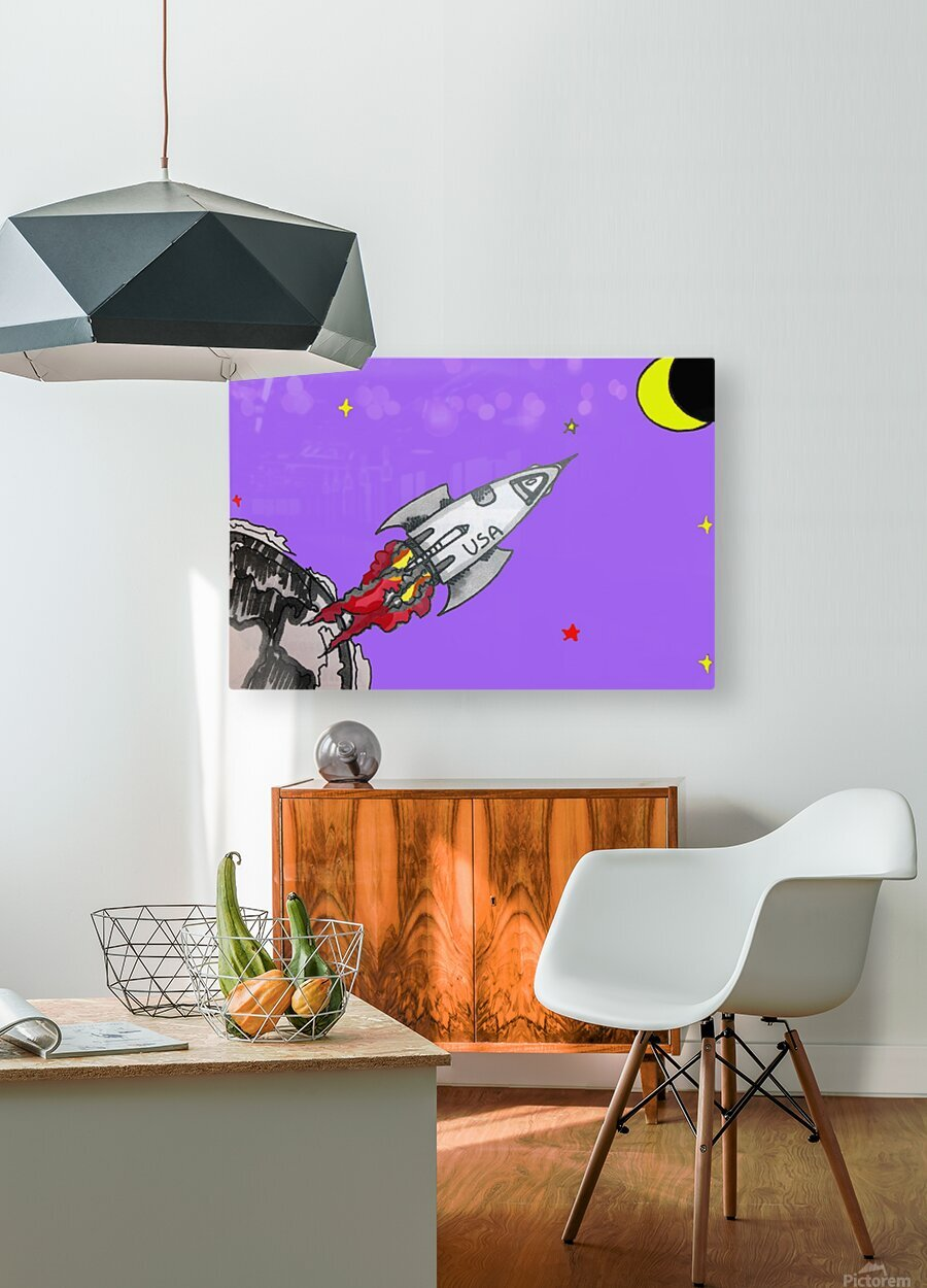 HAVE SPACE SHIP WILL TRAVEL  HD Metal print with Floating Frame on Back