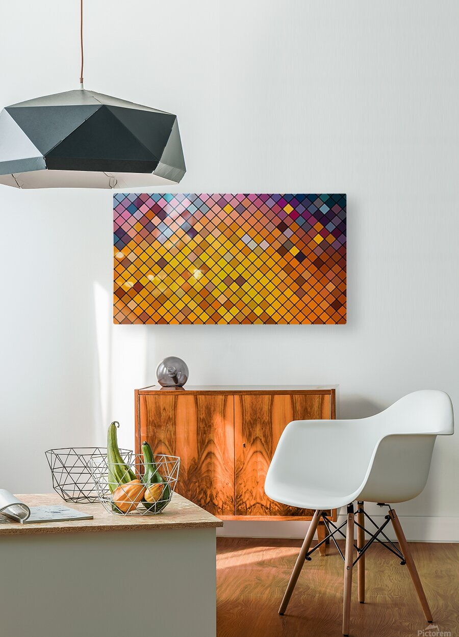 Mosaic Pattern  HD Metal print with Floating Frame on Back