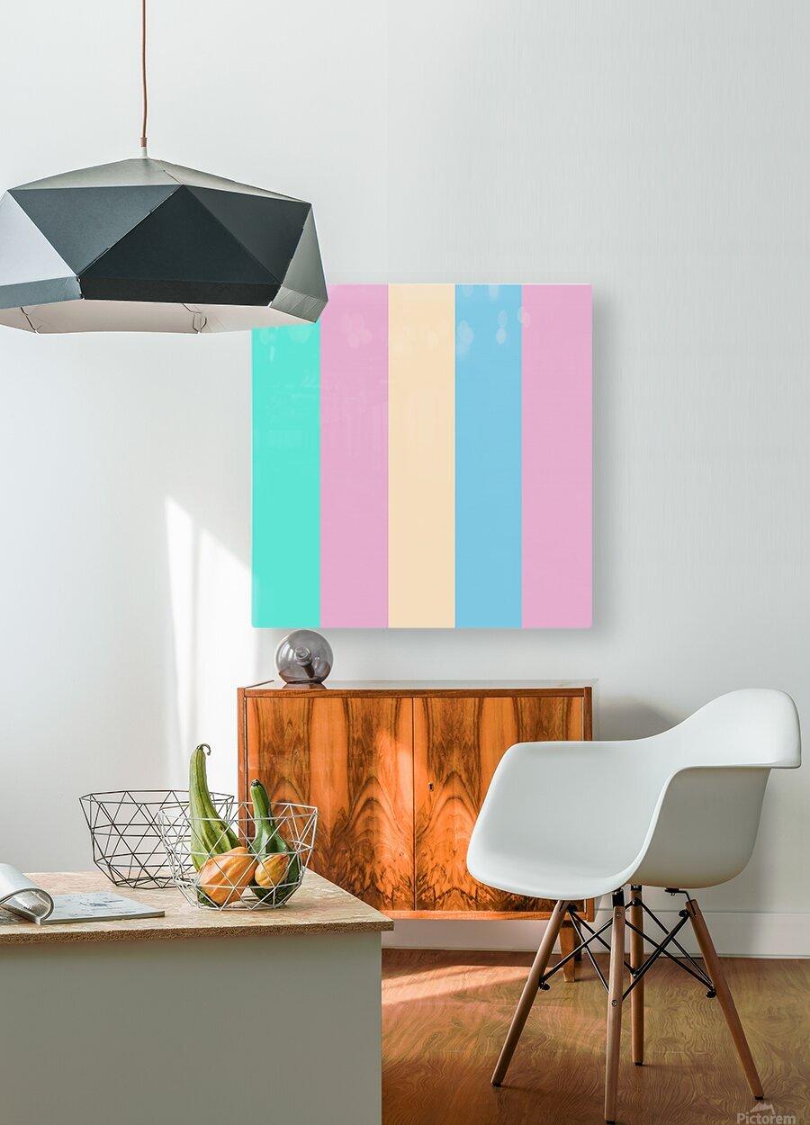 Pastel Palette  HD Metal print with Floating Frame on Back