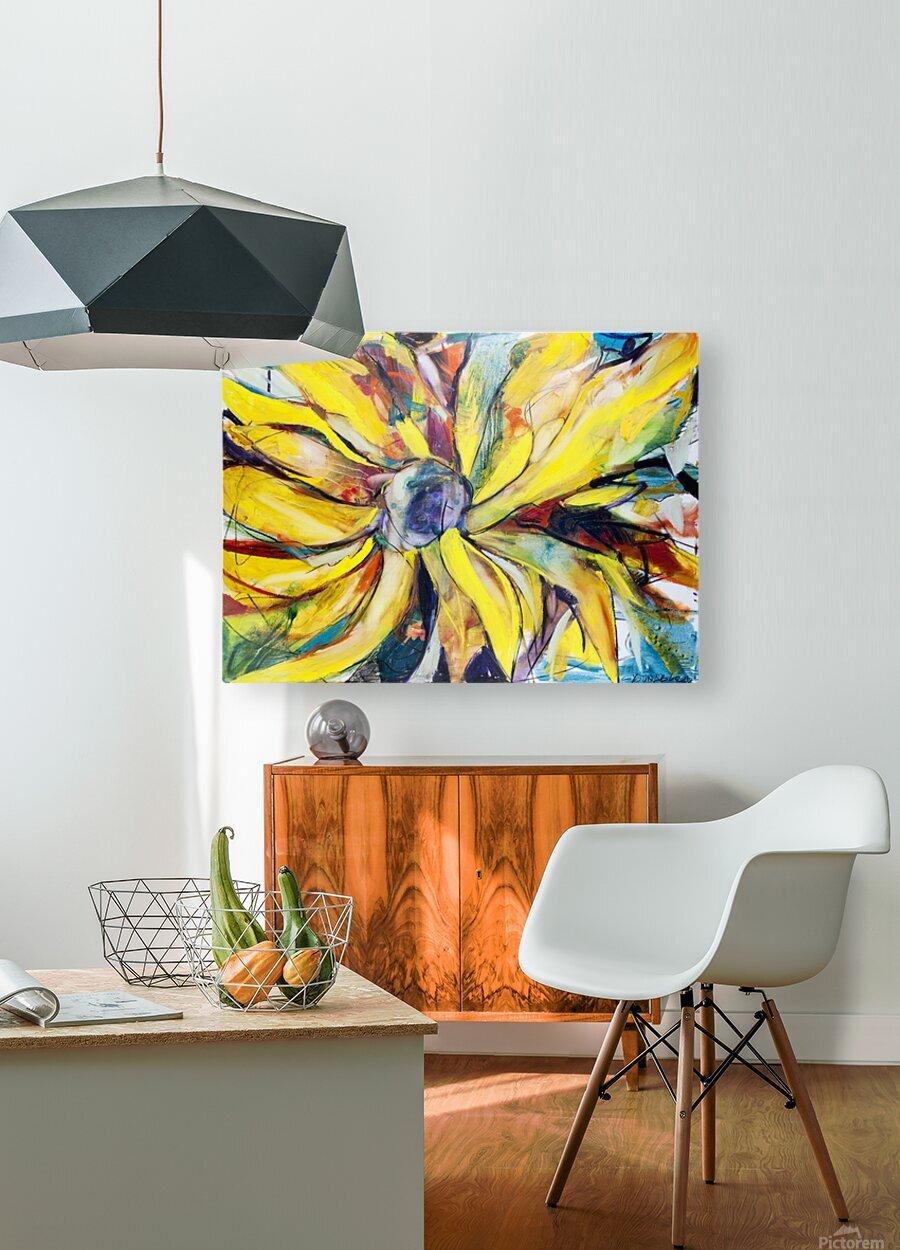 Louisiana Sunflower II  HD Metal print with Floating Frame on Back