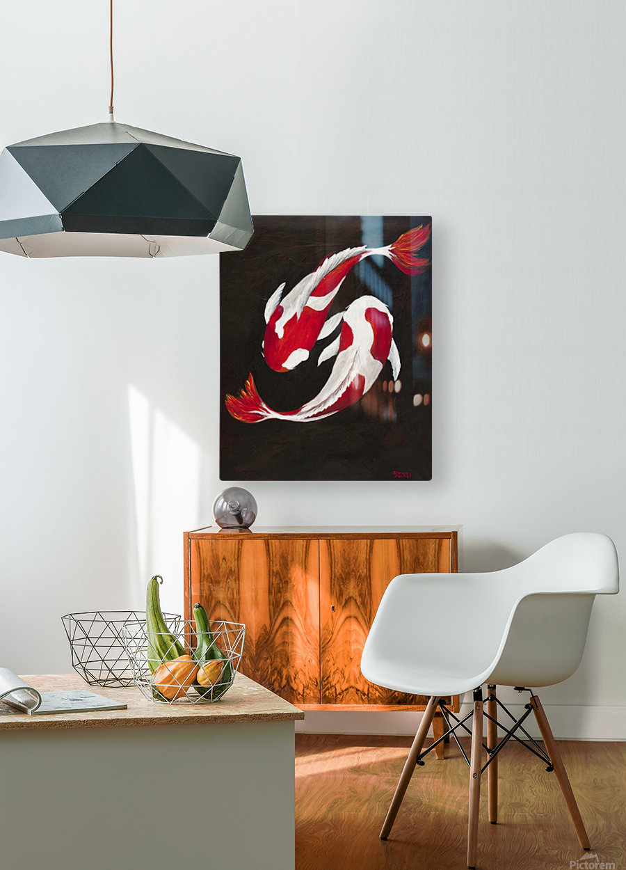 Yin and Yang  HD Metal print with Floating Frame on Back