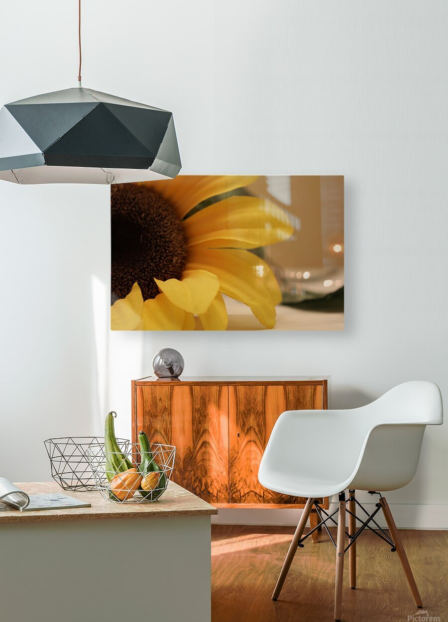 Monday  HD Metal print with Floating Frame on Back