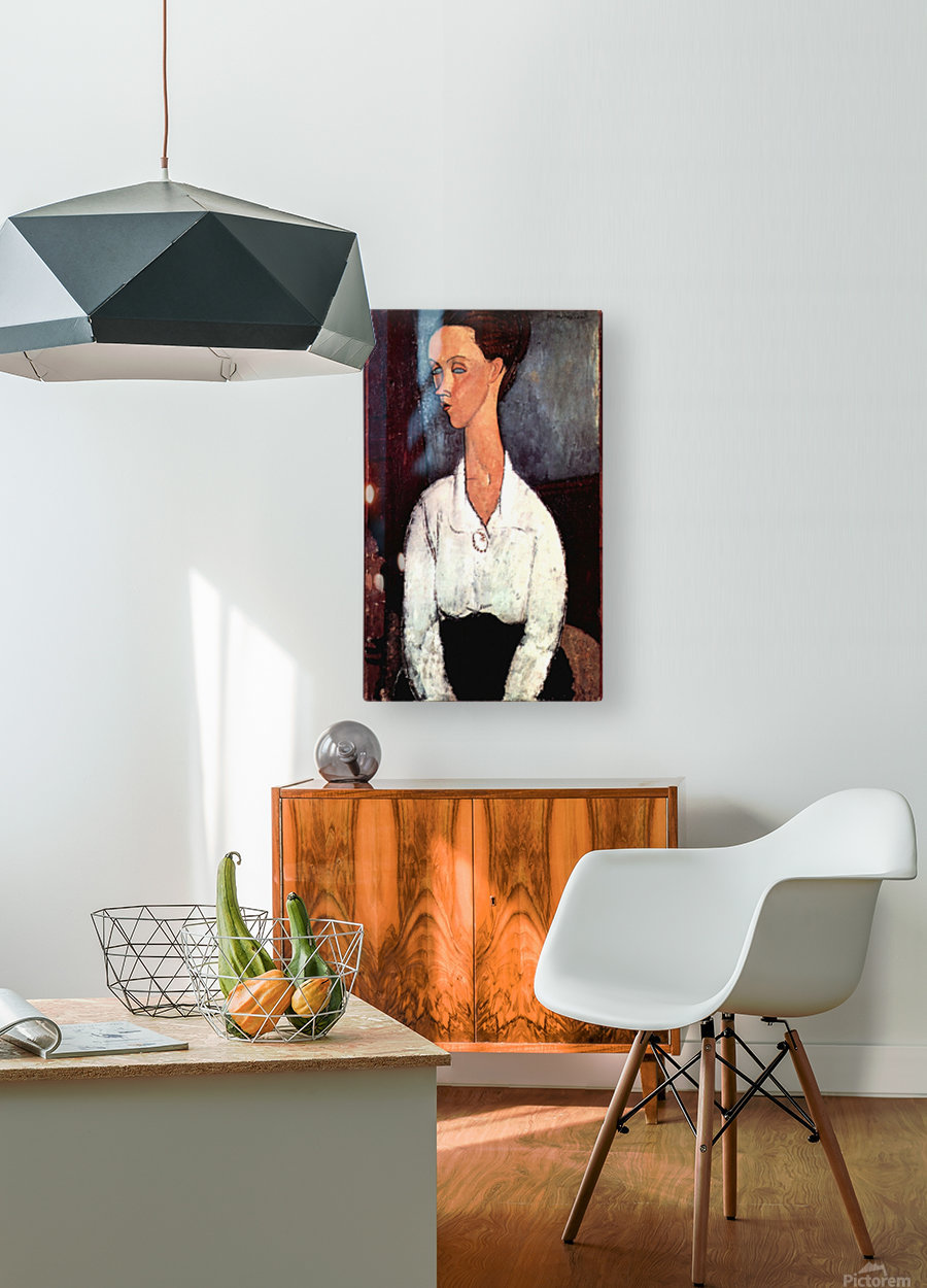 Modigliani - Portrait  HD Metal print with Floating Frame on Back