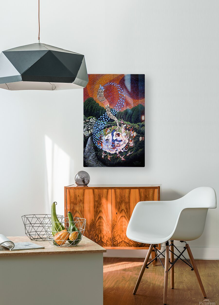 1990 029  HD Metal print with Floating Frame on Back