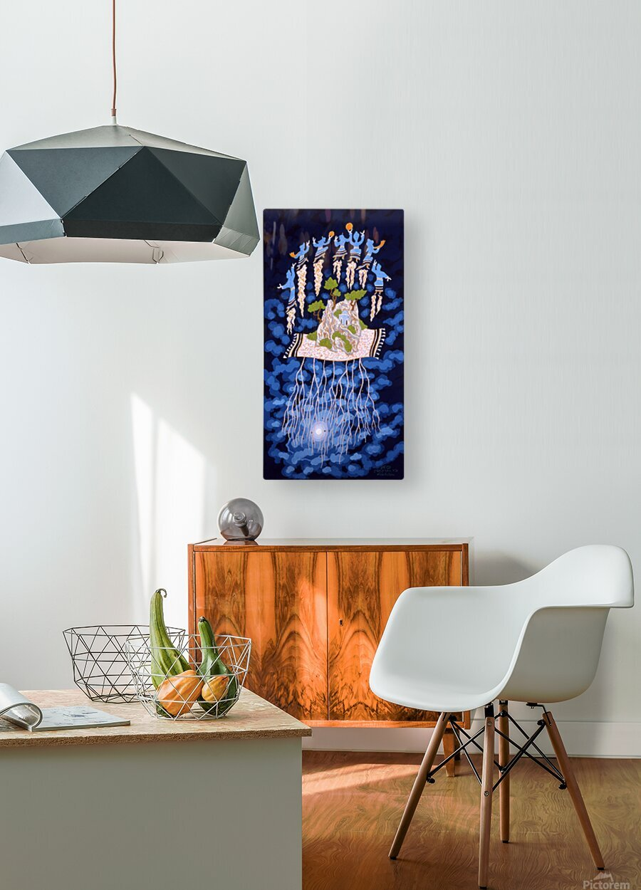 1990 032  HD Metal print with Floating Frame on Back