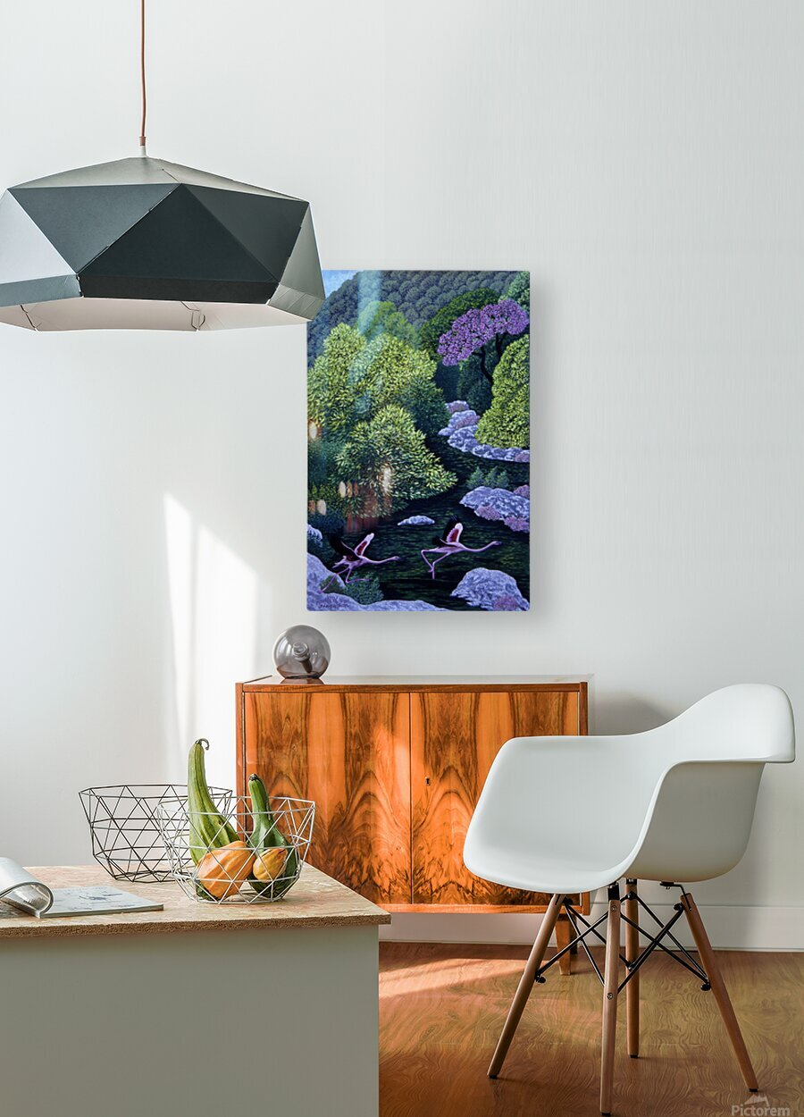 1990 031  HD Metal print with Floating Frame on Back