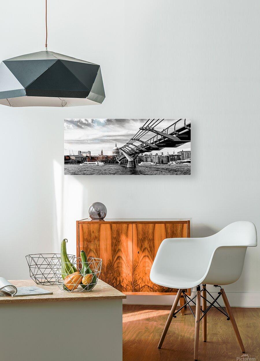River Thames - London city skyline  HD Metal print with Floating Frame on Back