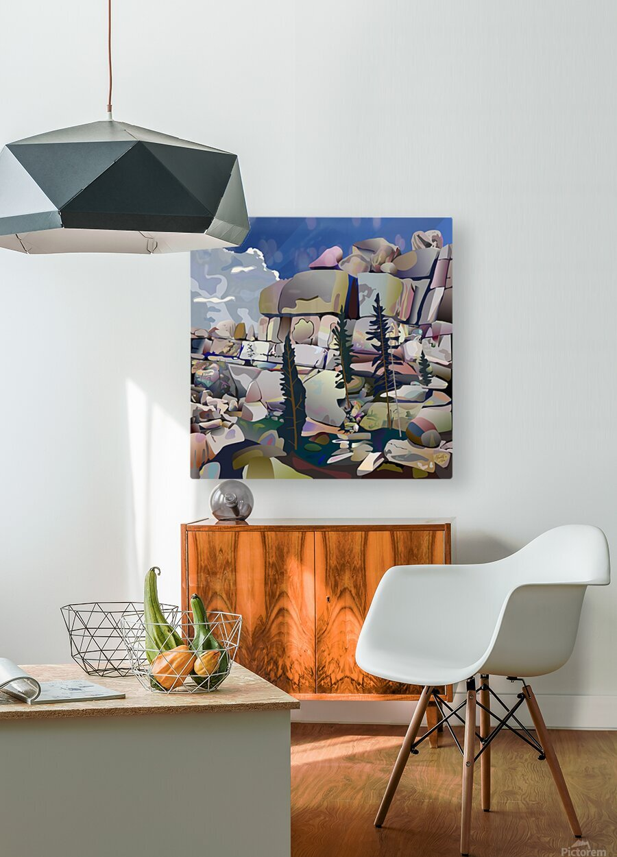 Earth Bound  HD Metal print with Floating Frame on Back