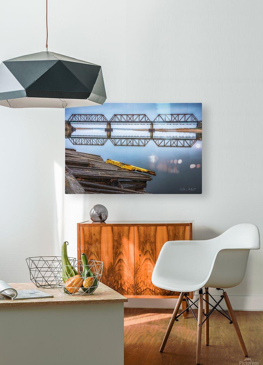 Double pont  Impression métal HD avec cadre flottant sur le dos