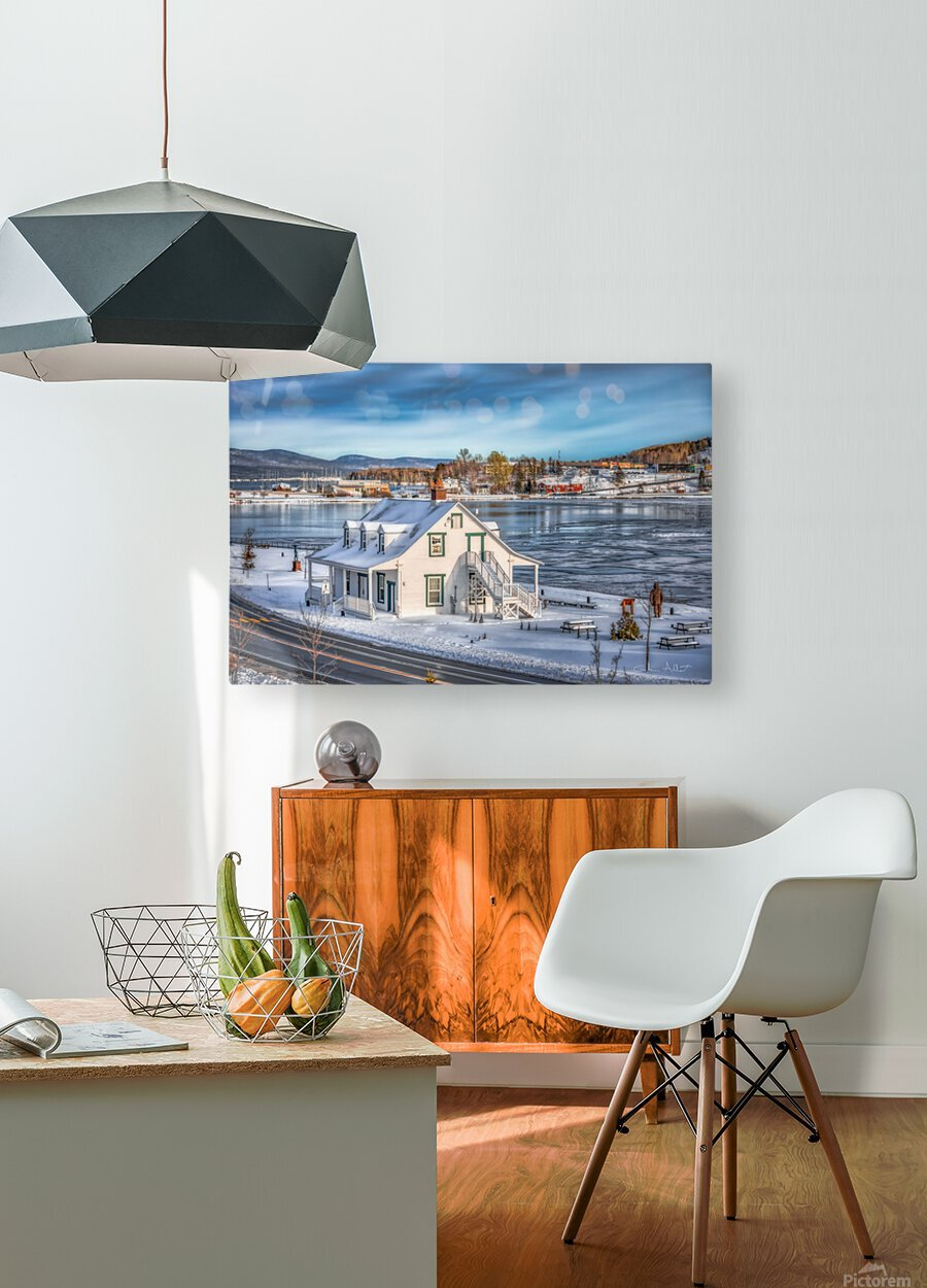 Premiere neige sur Gaspe  HD Metal print with Floating Frame on Back