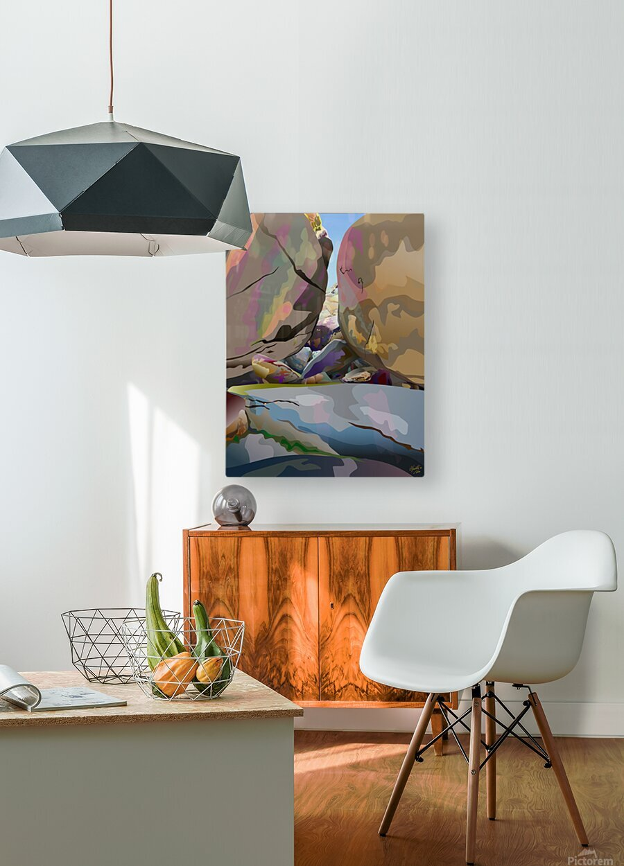 Box Canyon  HD Metal print with Floating Frame on Back