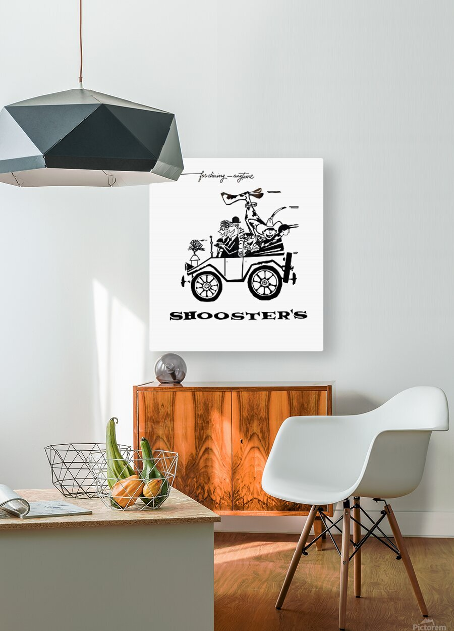 Shoosters Drive-In  HD Metal print with Floating Frame on Back