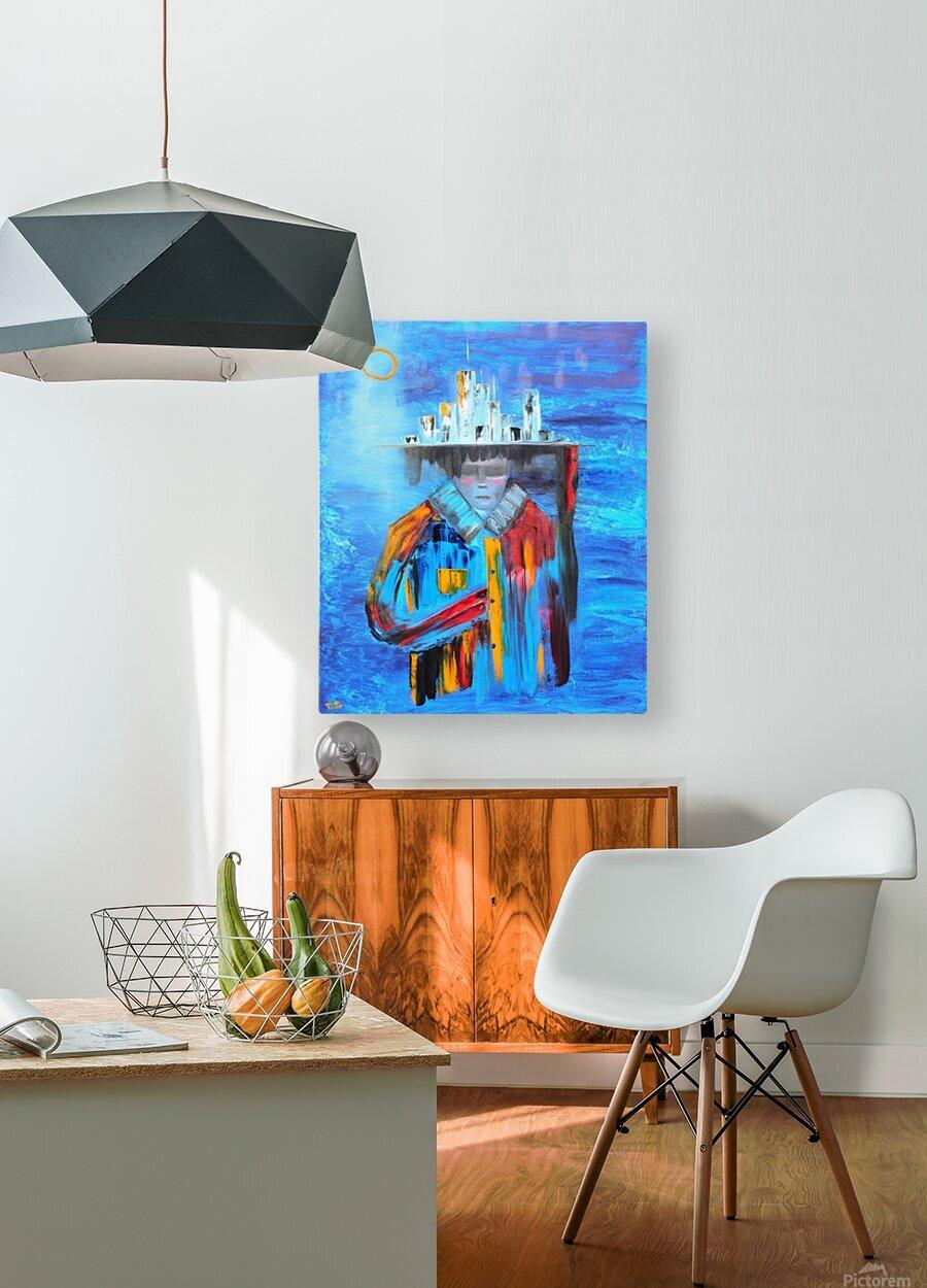 Goddess  HD Metal print with Floating Frame on Back