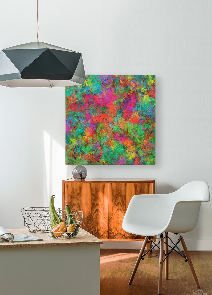 The spark  HD Metal print with Floating Frame on Back