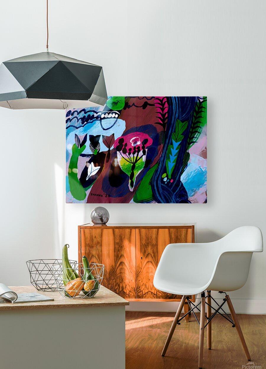 Grandmas Pearls  HD Metal print with Floating Frame on Back