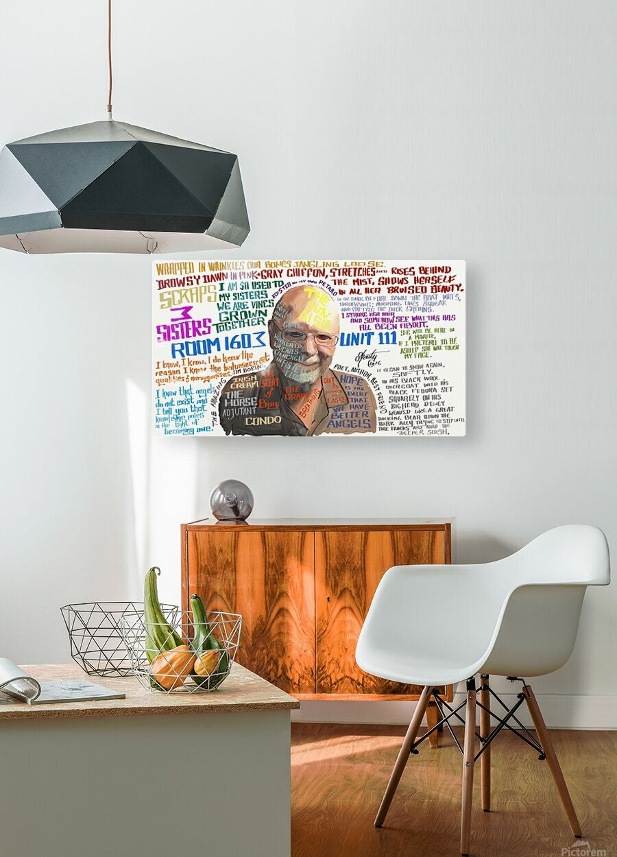Jim Boring  HD Metal print with Floating Frame on Back