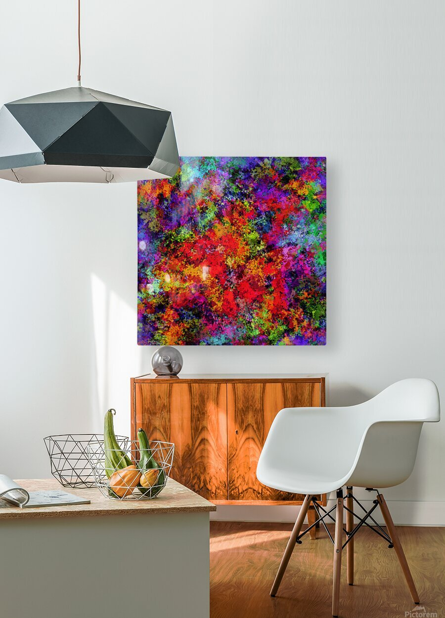 Overload  HD Metal print with Floating Frame on Back