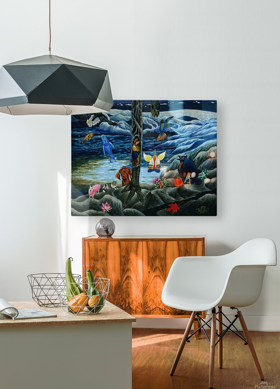 2000 025  HD Metal print with Floating Frame on Back