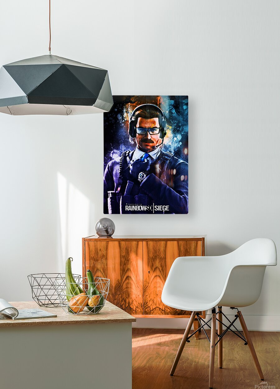 Rainbow Six Siege  HD Metal print with Floating Frame on Back