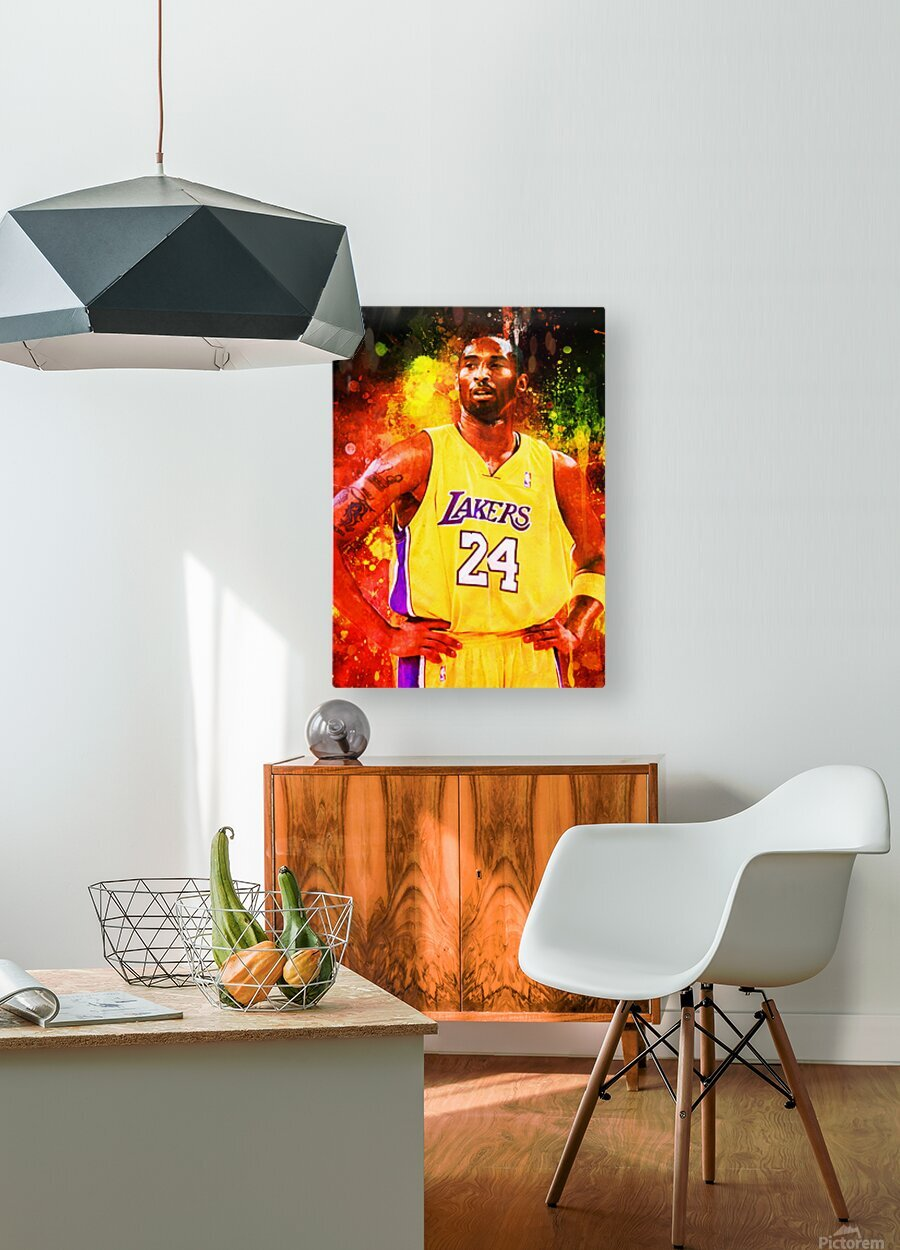 Kobe Bryant  HD Metal print with Floating Frame on Back