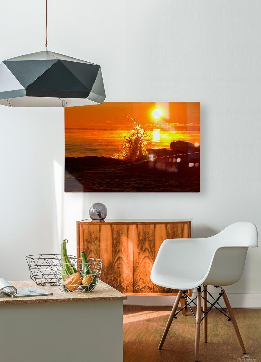 Lake Michigan Sunrise   HD Metal print with Floating Frame on Back