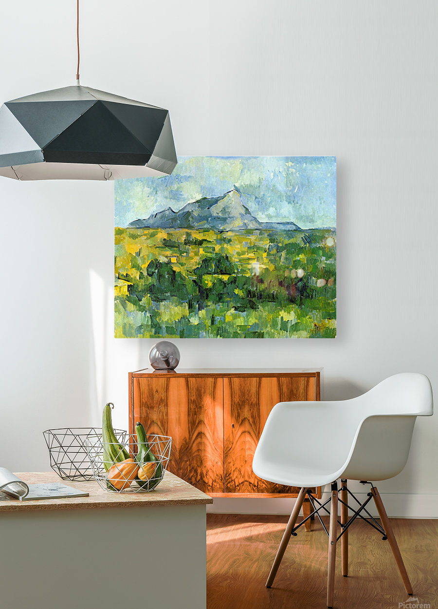 Mount St. Victiore by Cezanne  HD Metal print with Floating Frame on Back