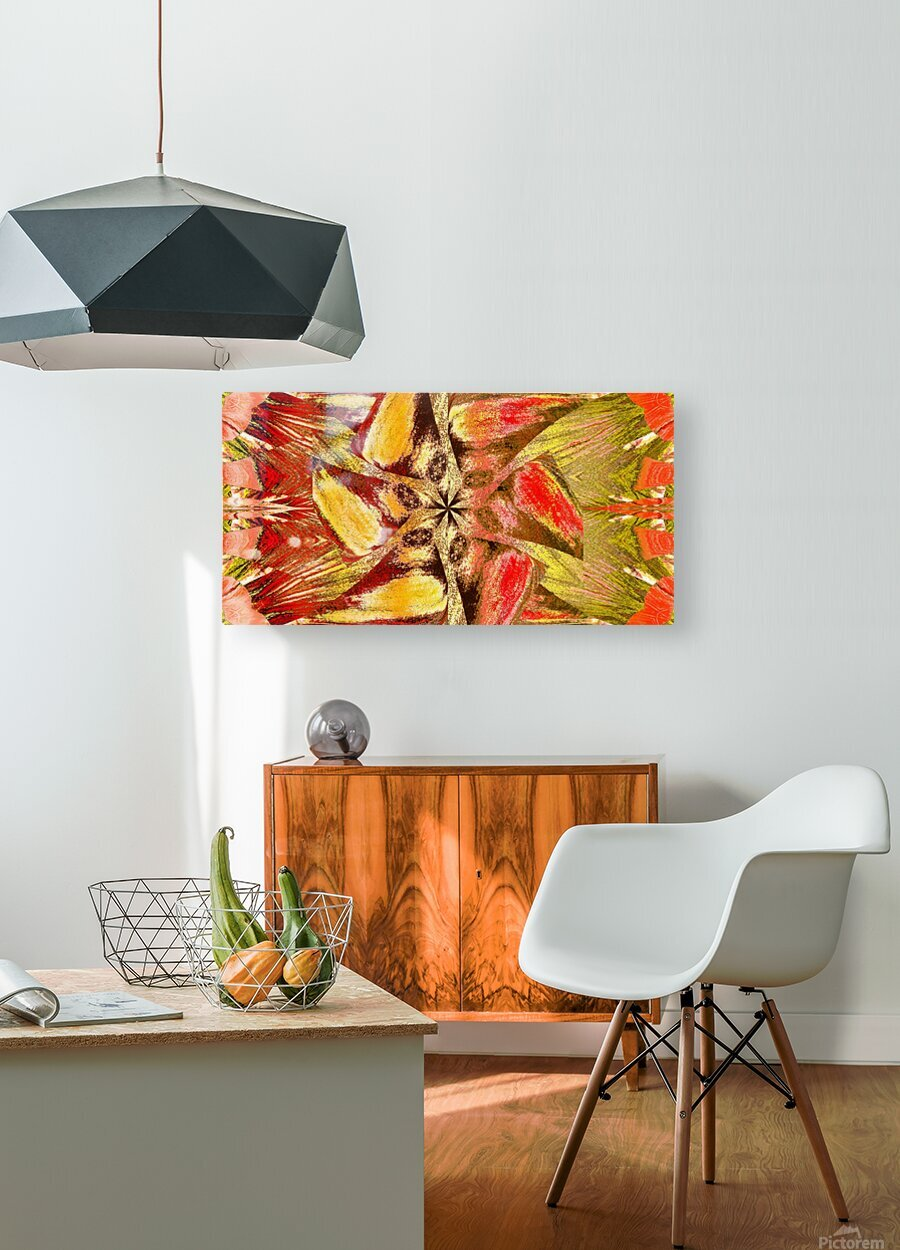 Wildflower In The Wind 2  HD Metal print with Floating Frame on Back