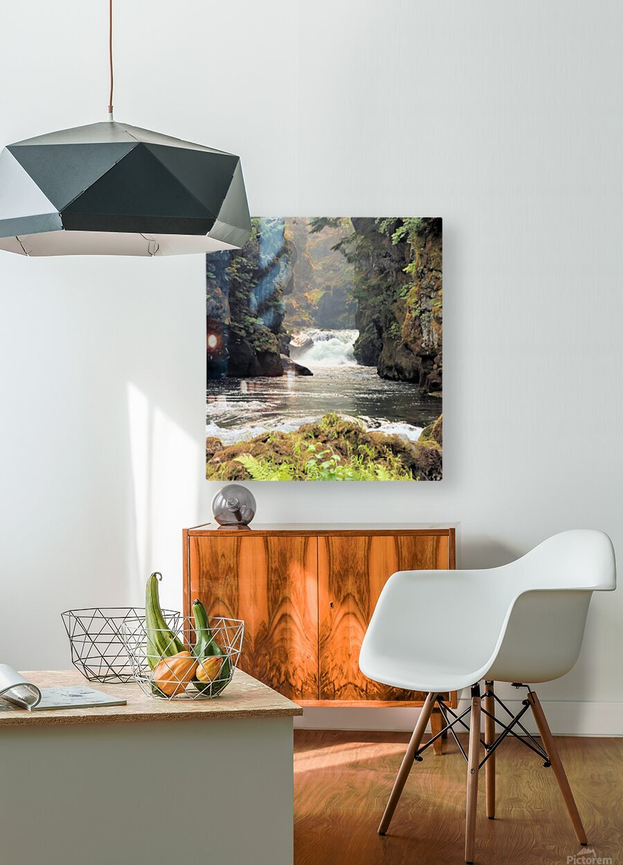 Rogue River Canyon  HD Metal print with Floating Frame on Back