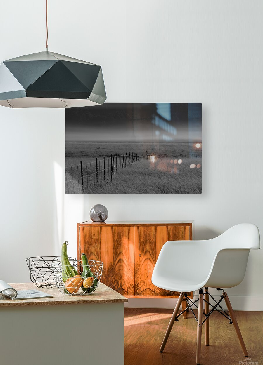 Fog at Dawn  HD Metal print with Floating Frame on Back