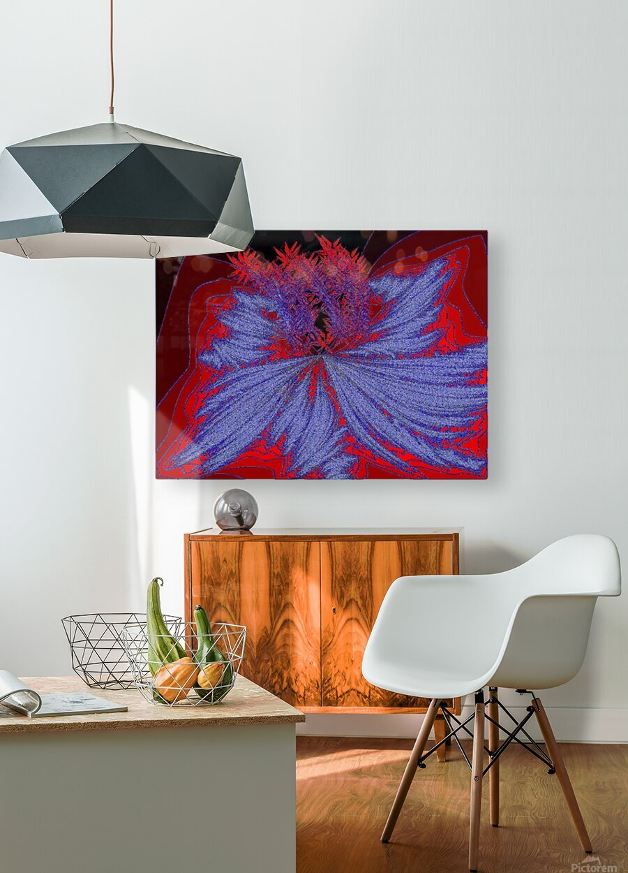 Desert Sand Wildflower 2  HD Metal print with Floating Frame on Back