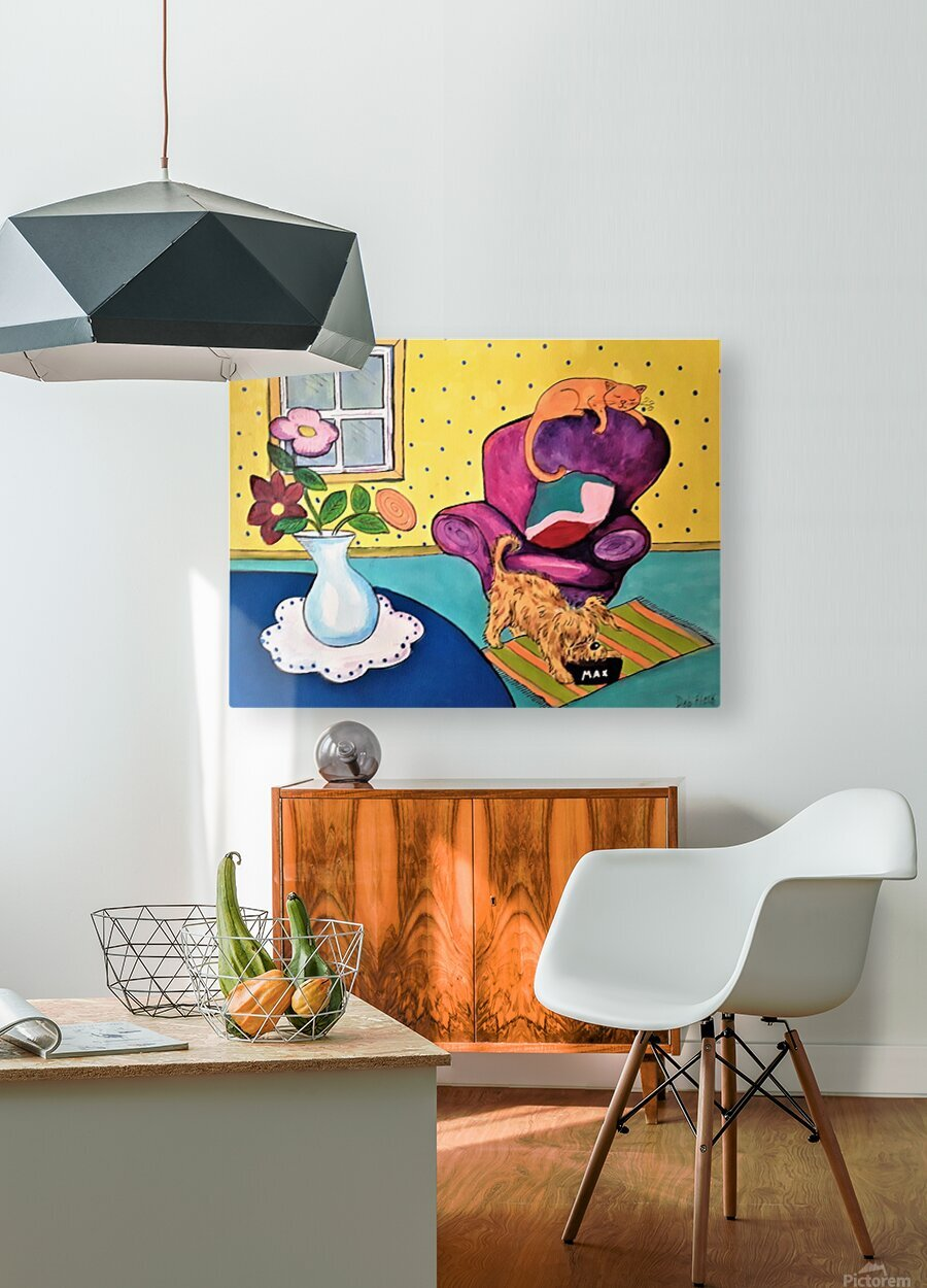 Just Relaxing  HD Metal print with Floating Frame on Back