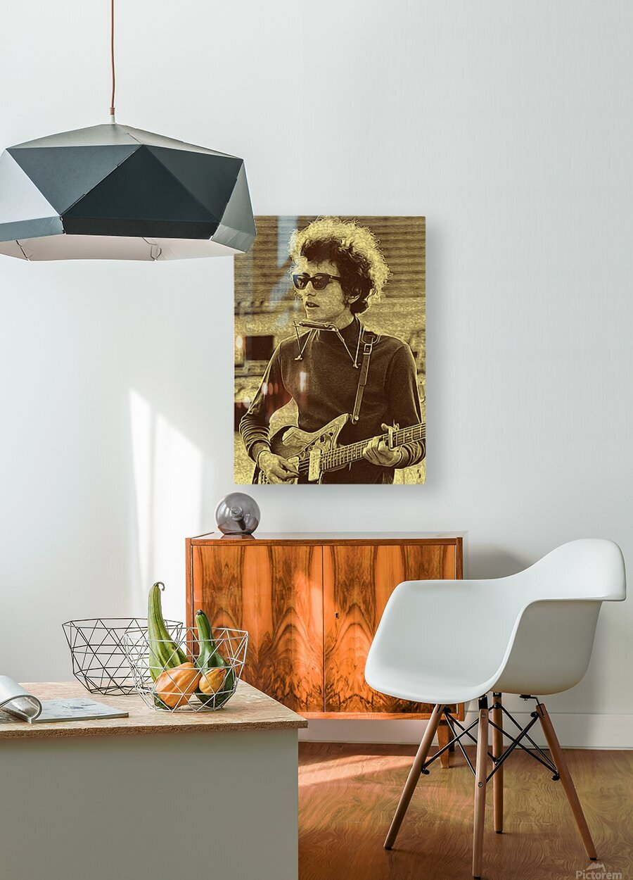 Bob Dylan  American singer Collection 3   HD Metal print with Floating Frame on Back