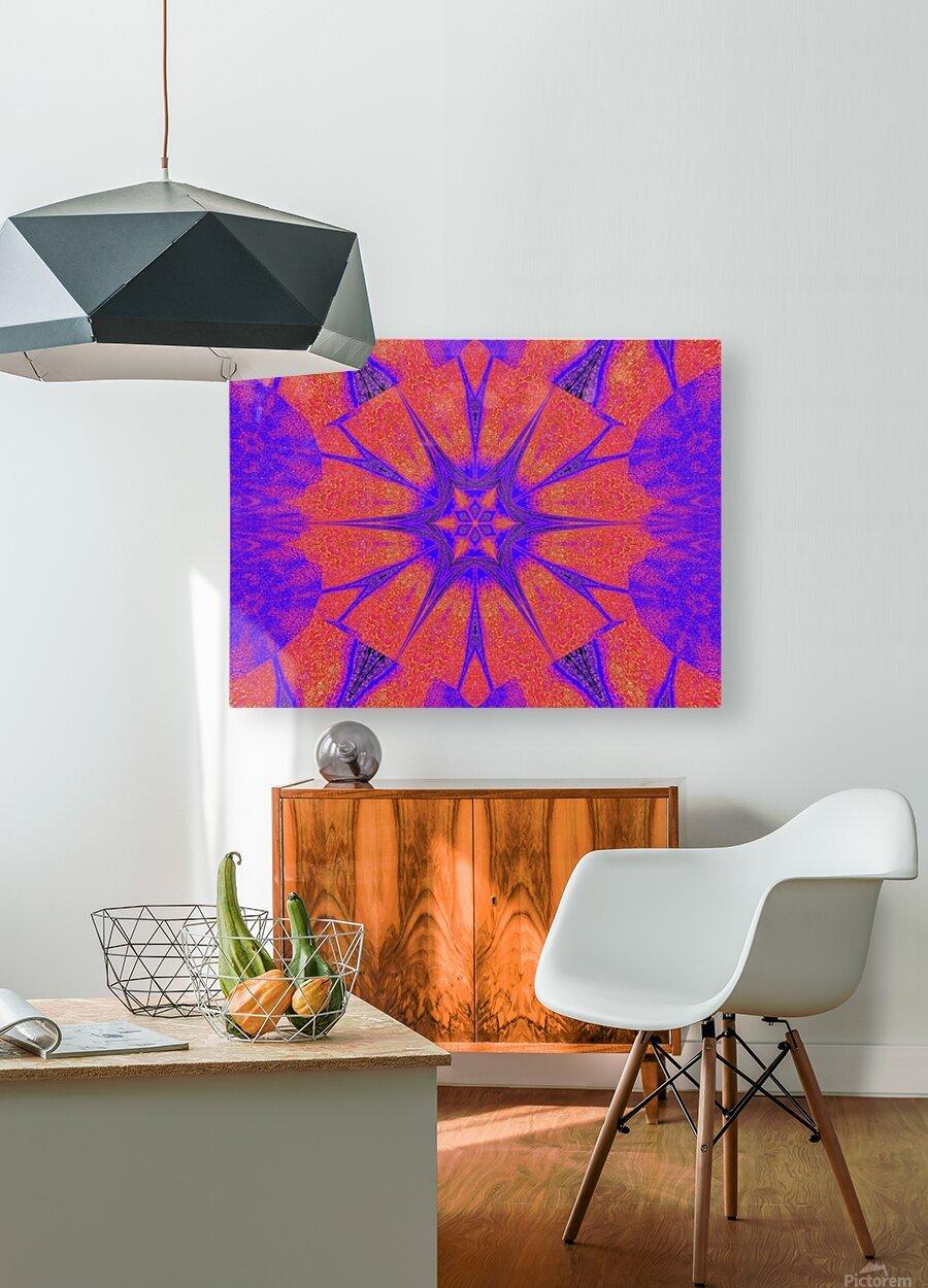 Lotus And Sunshine 2  HD Metal print with Floating Frame on Back