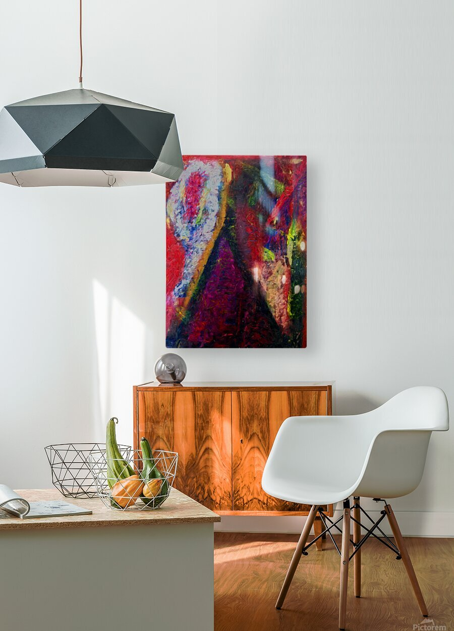 The Climber  HD Metal print with Floating Frame on Back