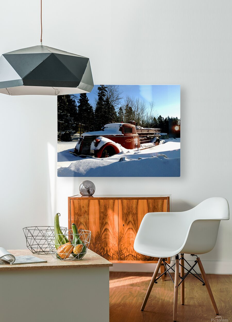 superior fire truck  HD Metal print with Floating Frame on Back