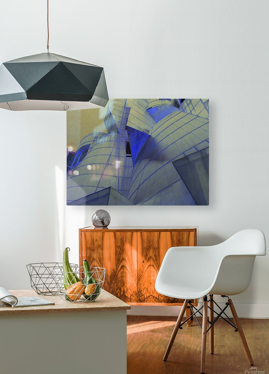 night vision  HD Metal print with Floating Frame on Back