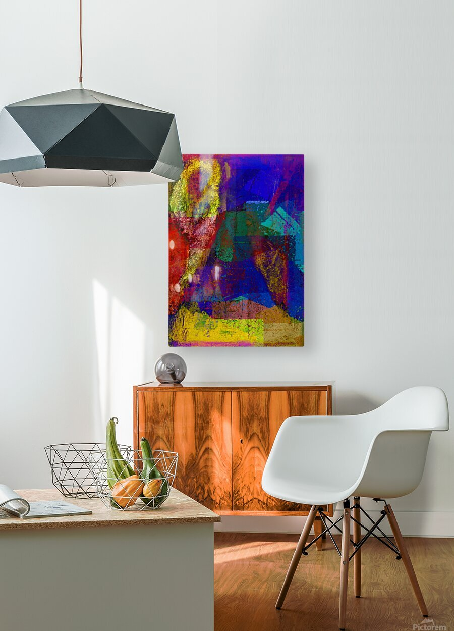 The Climber V2  HD Metal print with Floating Frame on Back