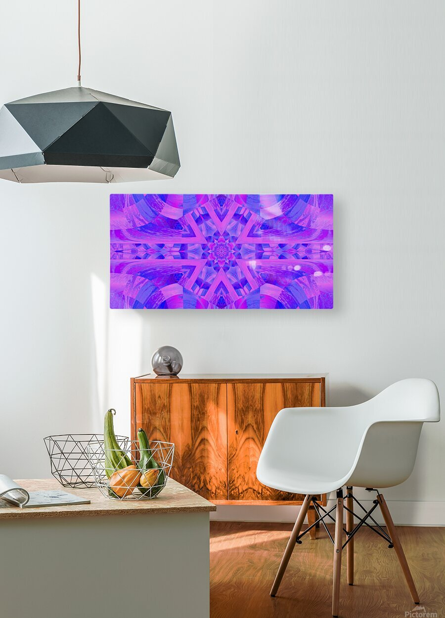 Lotus In Mist  HD Metal print with Floating Frame on Back